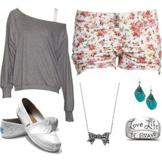 """school."" by hipster-fashion on Polyvore love so much wish we could wear free dress at our school so CUTE!"