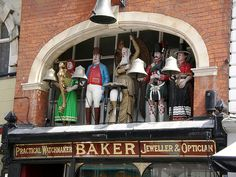 Old Father Time Clock, Southgate Street, Gloucester (G A Baker & Son Jewellers)
