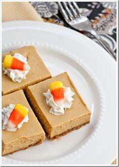 Maple Pumpkin Cheesecake Bars