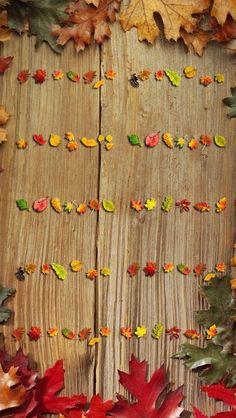 Autumn Leaves Shelves #iPhoneWallpaper