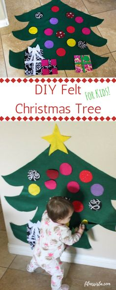 This felt Christmas tree is a fun and easy holiday craft to put together  for your e0eff89e5