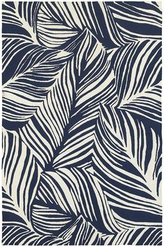 Creative Drawing Tommy Bahama Home Atrium Indoor/Outdoor 51105 Blue/Ivory x Area Rug - Motifs Textiles, Textile Patterns, Print Patterns, Mixing Patterns, Design Patterns, Jungle Pattern, Atrium, Surface Pattern Design, Pattern Art