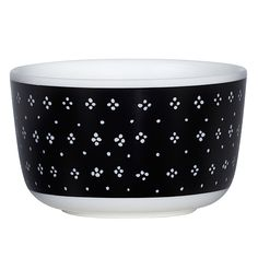 Oiva - Muija bowl, 2,5 dl, black, by Marimekko.