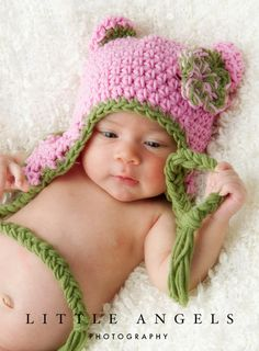 Bright Colors Bear Hat by SunsetCrochet