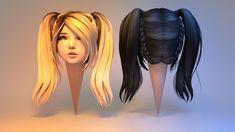 josette hair 3d model obj fbx blend 5