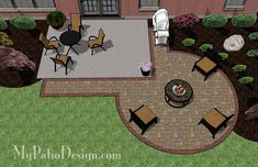 patio design Add a taste of elegance to your existing rear patio with this DIY Circle Patio Addition Design with Grill Pad. Perfect for fire pit or large round patio table. Patio Diy, Backyard Patio Designs, Backyard Projects, Backyard Landscaping, Stone Patio Designs, Concrete Patio Designs, Concrete Patios, Landscaping Design, Poured Concrete Patio