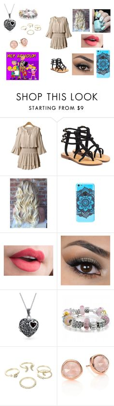 """Hey Arnold"" by ocean-goddess ❤ liked on Polyvore featuring Mystique, Bling Jewelry, Lipsy and Monica Vinader"