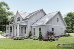 Modern Farmhouse Plans, Rustic Farmhouse, Farmhouse Style, Best House Plans, Dream House Plans, Dream Houses, Lake Houses, Tropical Home Decor, Tropical Houses