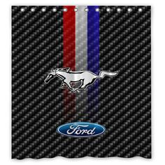 6c7671c6b76a Ford Mustang Logo Striped Custom Shower Curtain Size 60x72 and 66x72   Unbranded  Modern