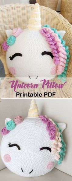 Make a unicorn pillow unicorn crochet patterns crochet pattern pdf amorecraftylife com unicorn baby crochet crochetpatterns foto Crochet Gratis, Crochet Patterns Amigurumi, Crochet Dolls, Crochet Stitches, Free Crochet, Beau Crochet, Crochet Fox, Baby Blanket Crochet, Crochet For Kids