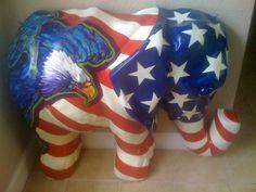 Patriotic Eagle elephant.