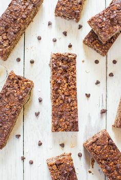 There granola bars are like superheroes. They're no-bake, contains loads of chocolate peanut butter goodness, AND they happen to be vegan and gluten-free. Oh, and you can make them in 10 minutes from start to finish.  Get the recipe from Averie Cooks »  - GoodHousekeeping.com