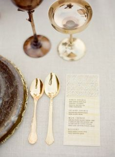 Glam up your cutlery with these gold spoons!