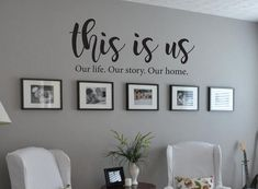 This is Us Our life Our story Our home Family Quote Vinyl Wall Decal Wall Decor Living Room Decal Family Home life Quote story Vinyl Wall Living Room Decor On A Budget, Family Wall Decor, Room Wall Decor, Home And Living, Home And Family, Modern Living, Small Living, Wall Decal Living Room, Bedroom Wall