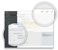 Brackets is an open-source editor for web design and development built on top of web technologies such as HTML, CSS and JavaScript. The project was created and is maintained by Adobe, and is released under an MIT License.