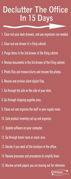 Declutter The Office In 15 Days – business organization tips to streamline your office space by Sabrinas Organizing – sa… – office life
