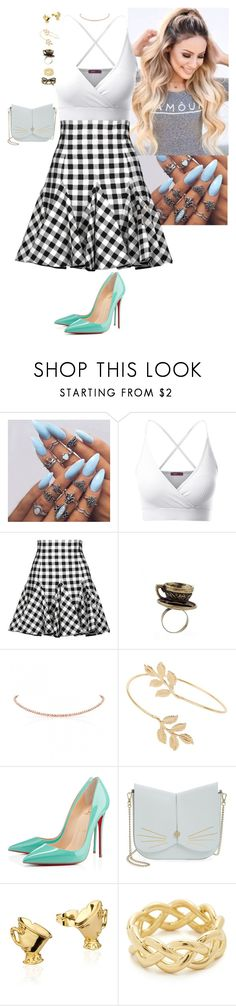 """""""Untitled #275"""" by stinze on Polyvore featuring Doublju, Dolce&Gabbana, Miss Selfridge, Christian Louboutin, Ted Baker, Disney, Soave Oro and Marc Jacobs"""