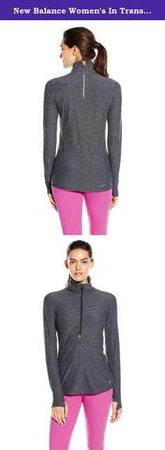 New Balance Women's In Transit Half Zip Jacket, Black Heather, Medium. When it's cool, you'll be cozy in the New Balance Impact Run Half-Zip Top. The space dye knit gives it modern looks, while thumbholes, reflective trims and a media pocket deliver modern function. Plus, shirring at the front zipper gives it feminine style. Wear it alone or as the perfect layering piece under a windbreaker.