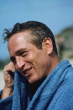 Paul Newman on the set of winning