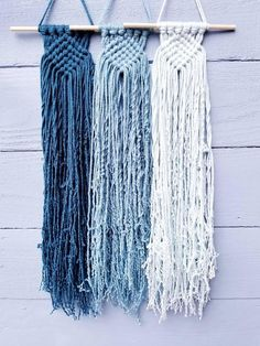 Mini Macrame Wall Hanging Woven Wall Hanging Coastal Beach