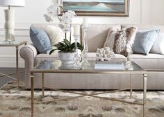 Rectangular Heron Coffee Table - Ethan Allen