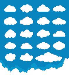 Conjunto de nubes - ilustración de arte vectorial