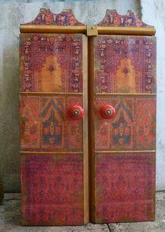 decoupage cabinet from: africanartworkbymargrit