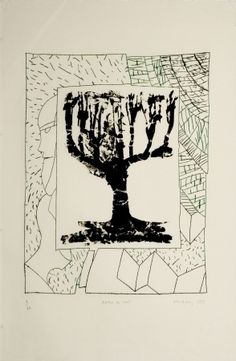 Pierre Alechinsky - Arbre central au vert Gravure Illustration, Art Et Illustration, Museum Of Fine Arts, Museum Of Modern Art, Studios D'art, Etching Prints, New York Museums, Art Brut, Outsider Art