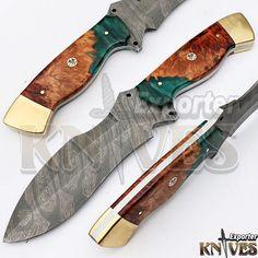 Knives Exporter 1 of Kind Australian Wood Handle Damascus Hunting Knife KE-352 #KnivesExporter