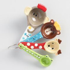 One of my favorite discoveries at WorldMarket.com: Holiday Animals Ceramic Measuring Spoons