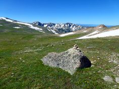 Flattop Mountain features wide expanses of pristine alpine tundra