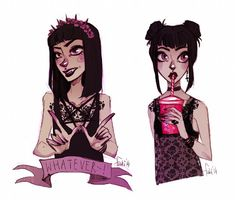 purple and black by Fukari on deviantART on We Heart It Character Inspiration, Character Art, Portrait Inspiration, Comic Art, Drawn Art, Arte Pop, Creepy Cute, The Villain, Looks Cool