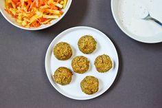 Falafels au four Recette sur Chocolate & Zucchini en VF A revisiter en barres protéinés en retirant épices et ajoutant de la whey