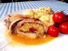 Mäsová roláda so zemiakovou plnkou (fotorecept) - Recept