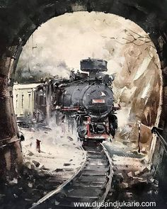 "Dusan Djukaric's Instagram post: ""Old maestro, watercolor, 56 x36cm #painting"" Pablo Picasso, Watercolor Paintings, Wallpaper, Awesome, Instagram Posts, Artwork, Trains, Check, Train"