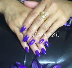 Purple nail gel glitter