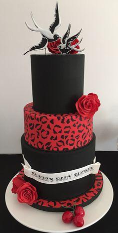 Traditional Tattoo Wedding Cake Rockabilly RockabillyPinup - Rockabilly birthday cake