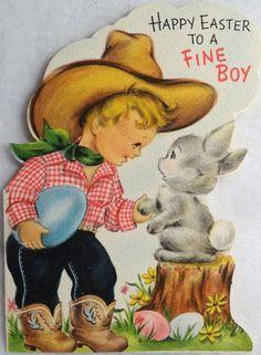 Cowboy Easter Greetings Card