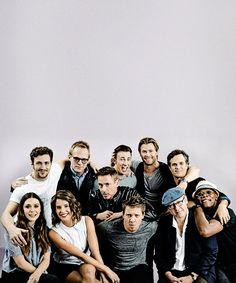 """""""Avengers: Age of Ultron"""" cast at San Diego Comic Con, July 26, 2014, for Entertainment Weekly."""