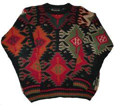 Vintage 90s Knit Sweater Mens Size Large $35.00