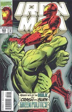 Iron Man (1968 1st Series) 305 Marvel Comics Modern Age Comic book covers Super Heroes Villians Incredible Hulk