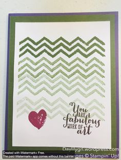 Work of Art stamp set, Stampin' Up