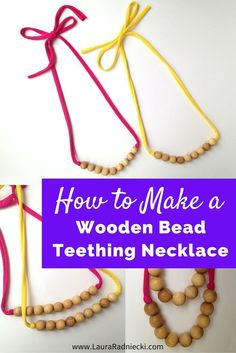 How to Make a Wooden Bead Teething Necklace  188201d8ca8