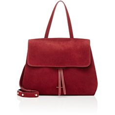 Mansur Gavriel Women's Mini Lady Bag (11.605 ARS) ❤ liked on Polyvore featuring bags, handbags, burgundy, mini handbags, strap purse, burgundy bag, mini bag and suede purse