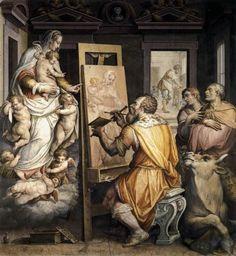 Giorgio Vasari - St. Luke Painting the Virgin; c.1565; Chiesa della Santissima Annunziata, Florence, Italy