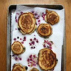 Blueberry Pancakes by Saveur. The addition of seltzer water and yogurt to the batter lends these pancakes a light texture, a mild tang, and a smooth consistency. Continue...