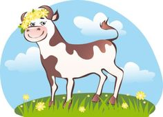 cartoon cow vector free download