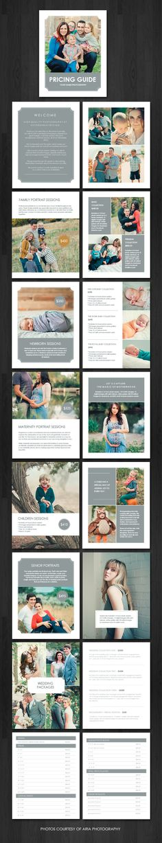 Pricing Guide Magazine Pricing guide magazine template for photographers! #Squijoo