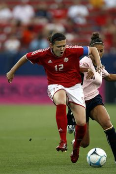 Christine Sinclair. Amazing soccer player in the Olympics!