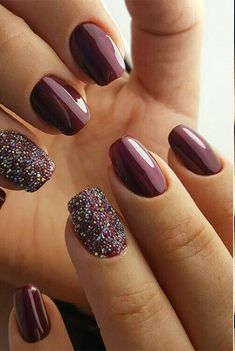 Over 30 stunning burgundy nail designs that will conquer your heart . - Over 30 stunning burgundy nail designs that will win your heart # fashion model - Burgundy Nail Polish, Burgundy Nail Designs, Nails Polish, Fall Nail Designs, Art Designs, Classy Nail Designs, Design Ideas, Design Art, Red Stiletto Nails